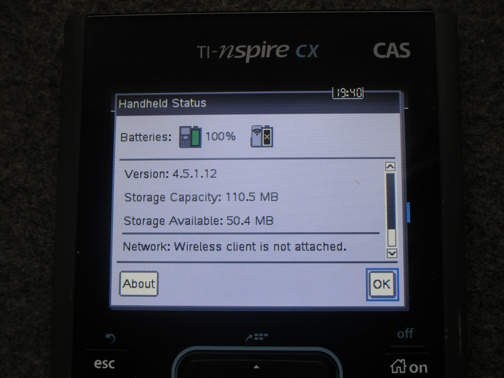 TI-Nspire CX CAS 4.5.1 + nClock
