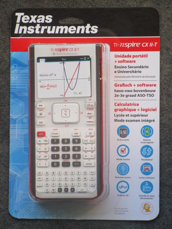 Emballage TI-Nspire CX II-T v. B