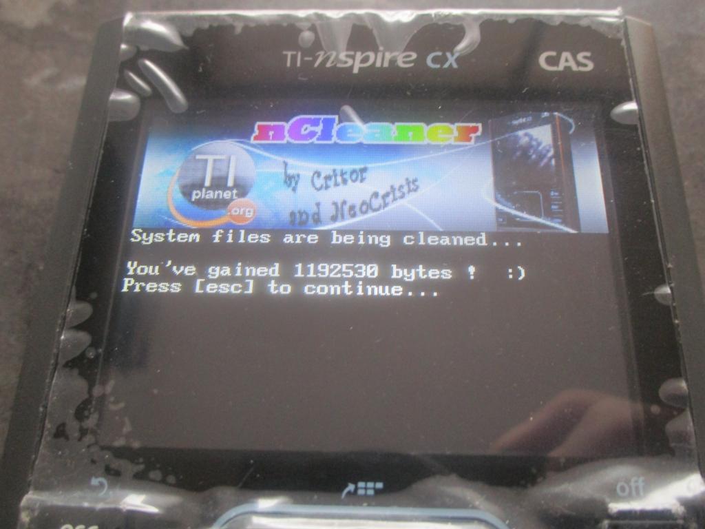 TI-Nspire CX CAS + nCleaner