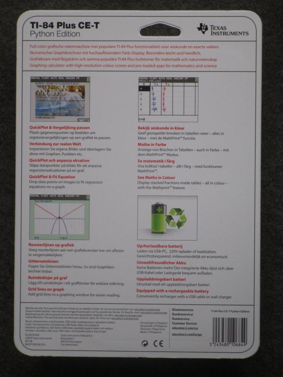 TI-84 Plus CE-T Python Edition