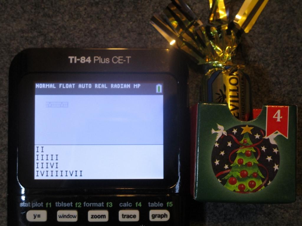 TI-84+CE + Avent 2018 jour 4