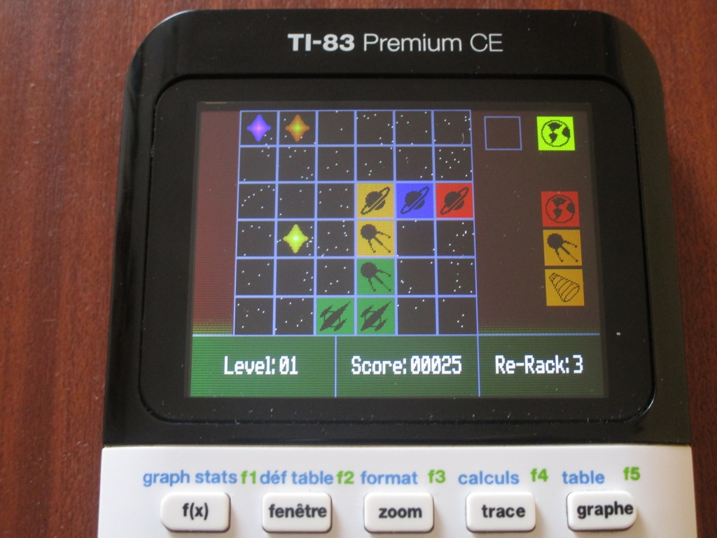 TI-83PCE + Star Collector CE