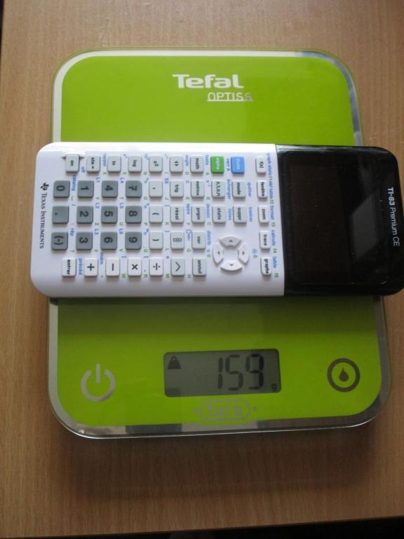TI-83 Premium CE pesée