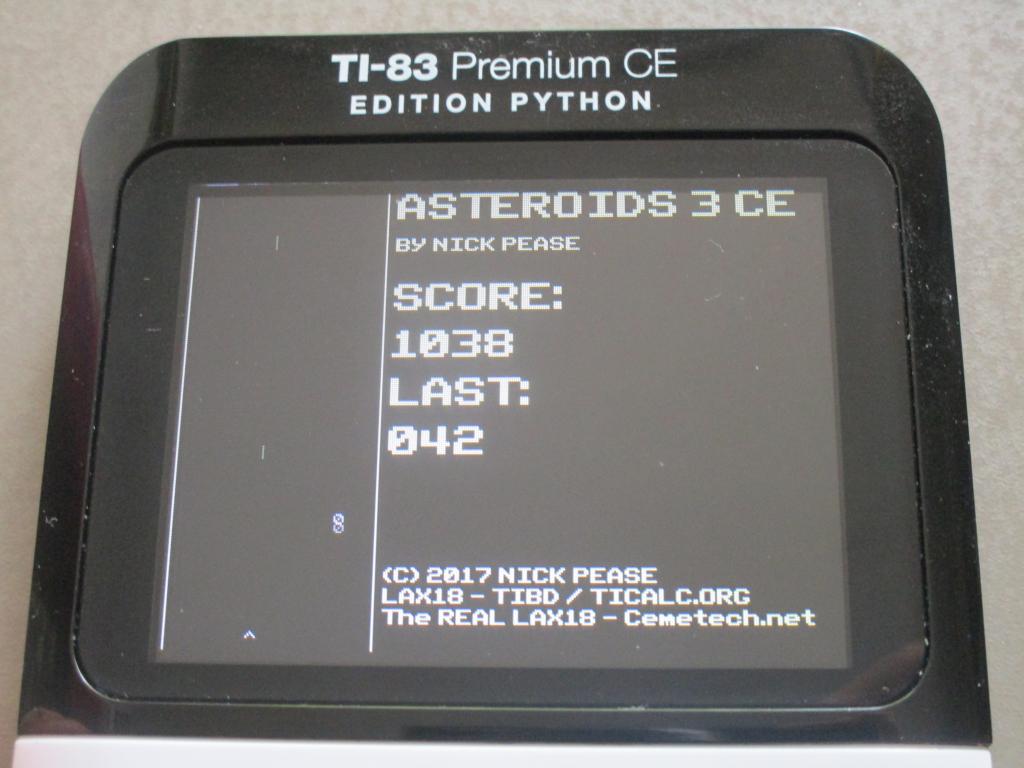 TI-83 Premium CE: Asteroids 3 CE