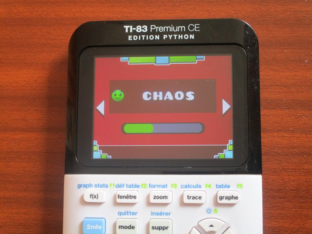 TI-83PCE + Geometry Dash Chaos