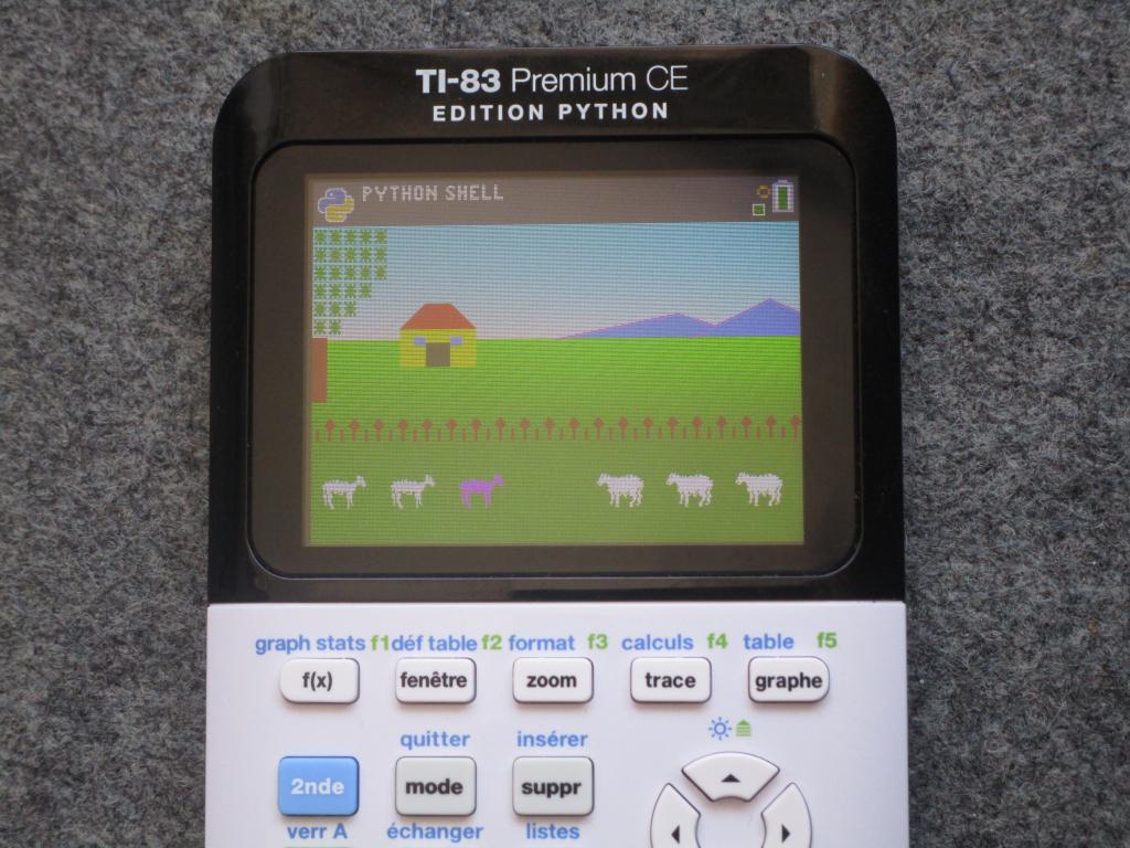 TI-83 Premium CE + Saute Mouton