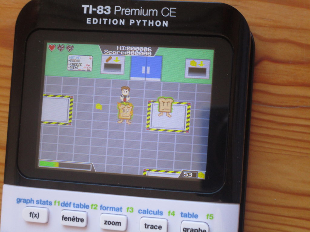 TI-83 Premium CE + Food Fighter
