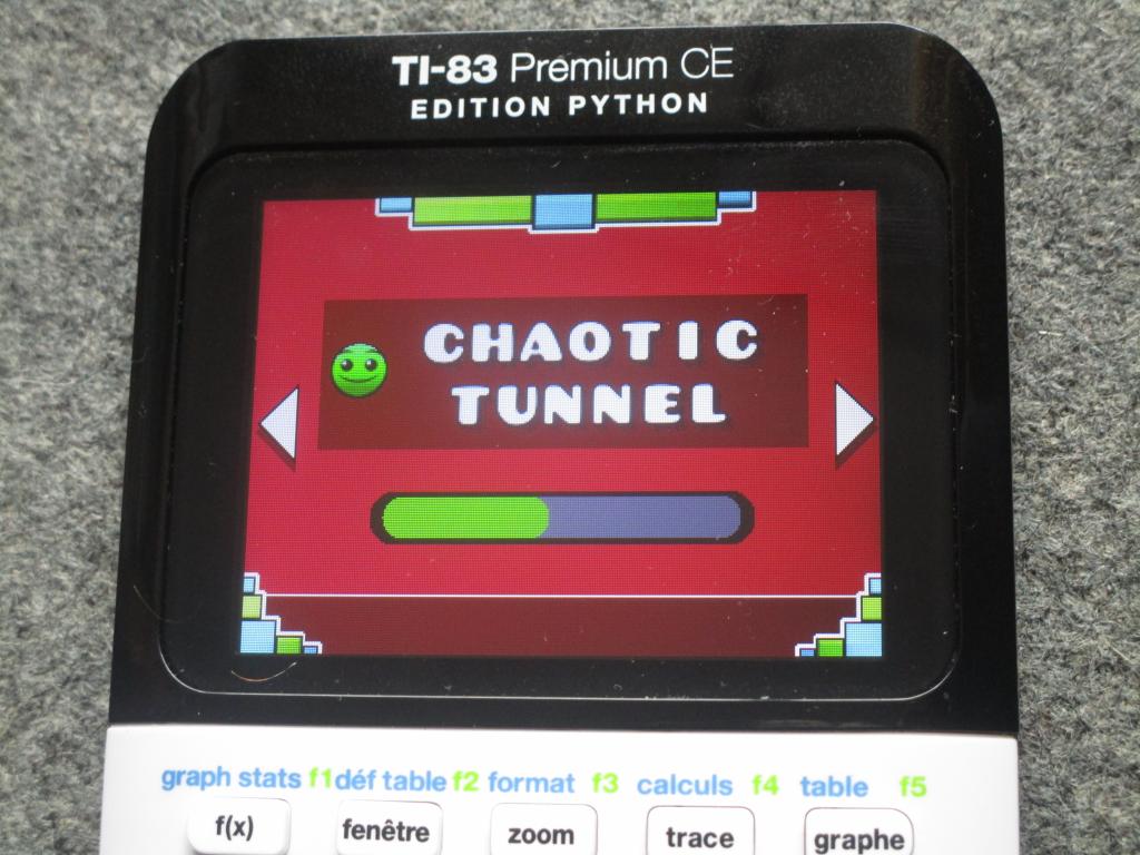 TI-83PCE + GDash Chaotic Tunnel