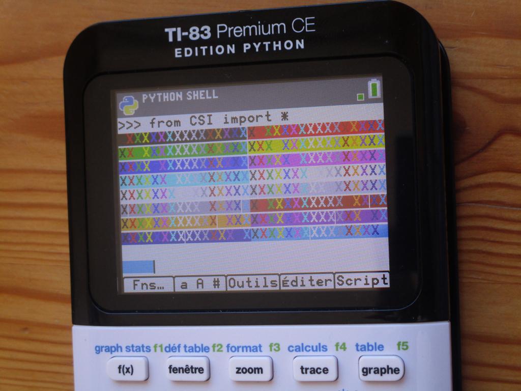 TI-83PCE:  commandes CSI Python