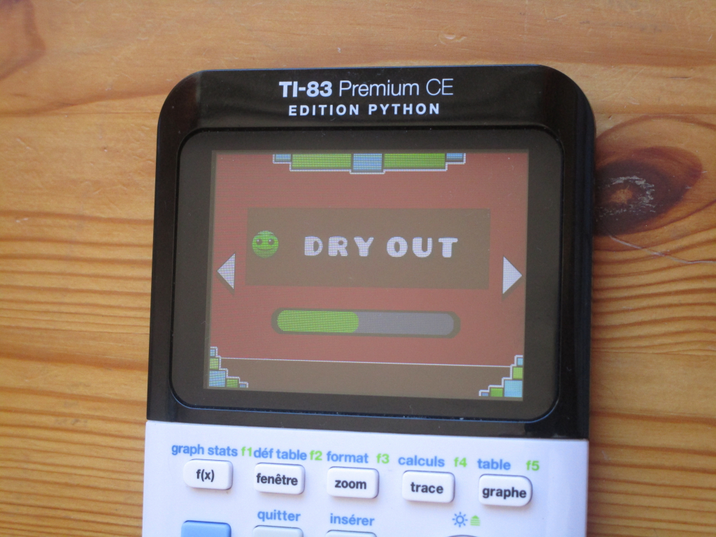 TI-83PCE: Geometry Dash Dry Out
