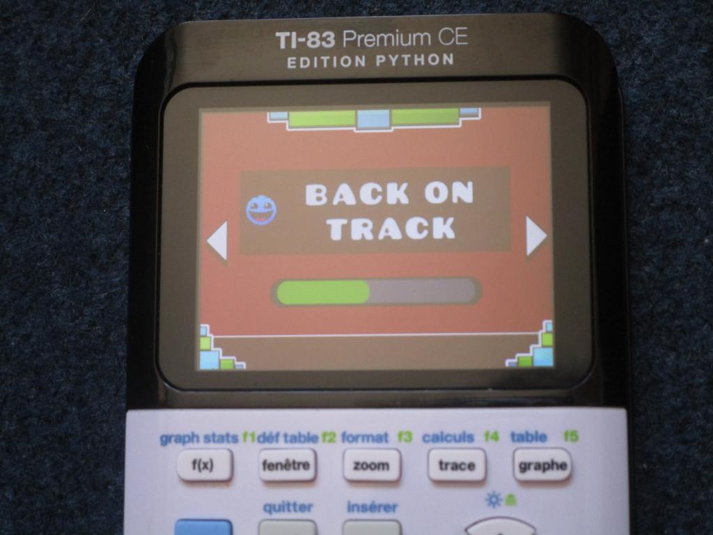 TI-83PCE GeomDash Back on track