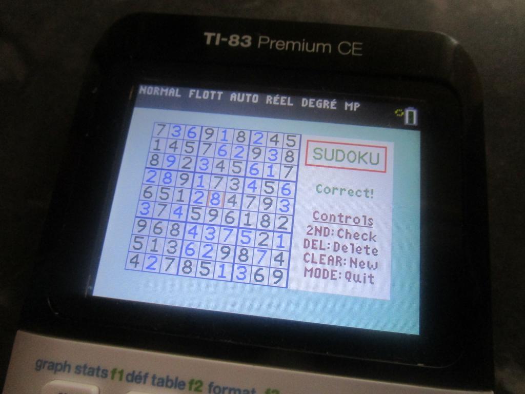 TI-83 Premium CE + Sudoku