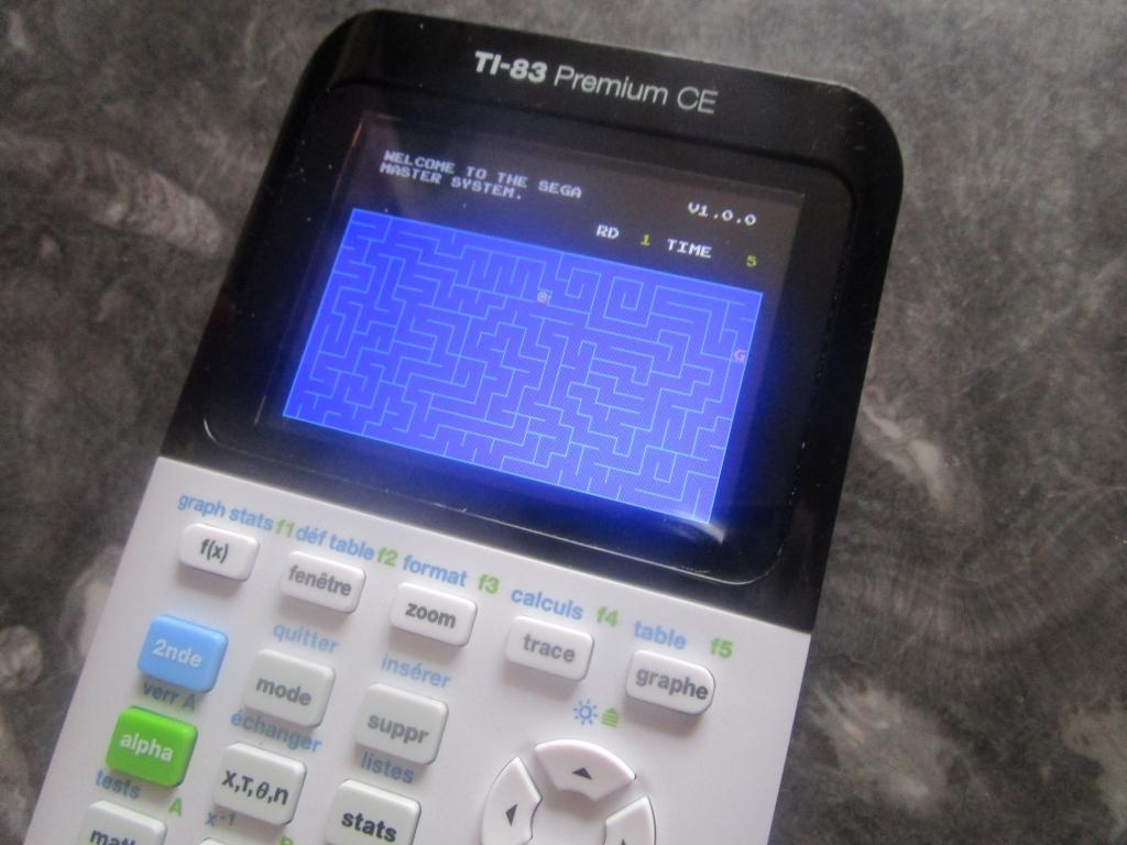 TI-83 Premium CE + Snail Maze