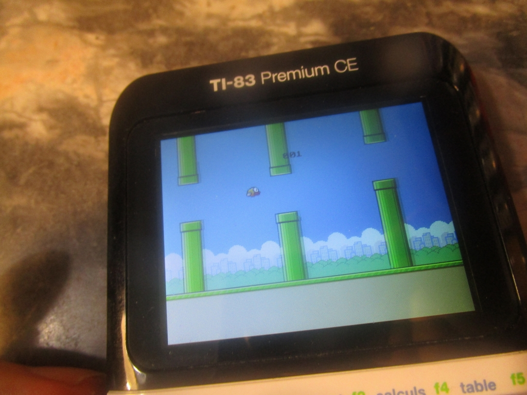 TI-83 Premium CE + FlappyBird