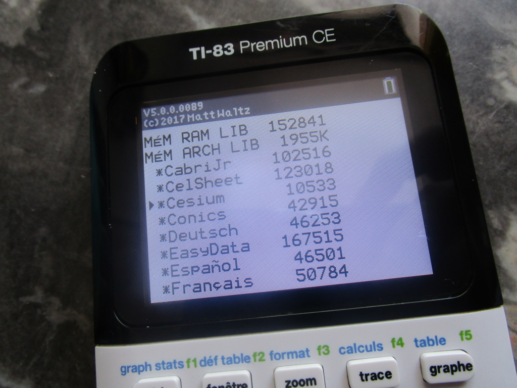 TI-83 Premium CE + Appli Cesium