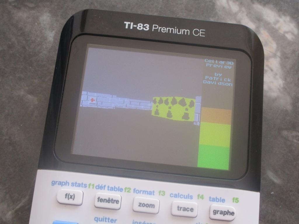 TI-83 Premium CE + Cellar 3D