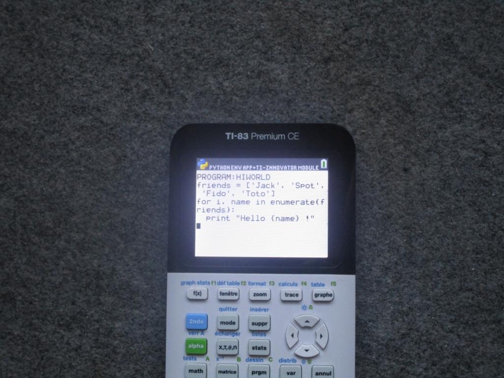 TI-83 Premium CE+Python, montage