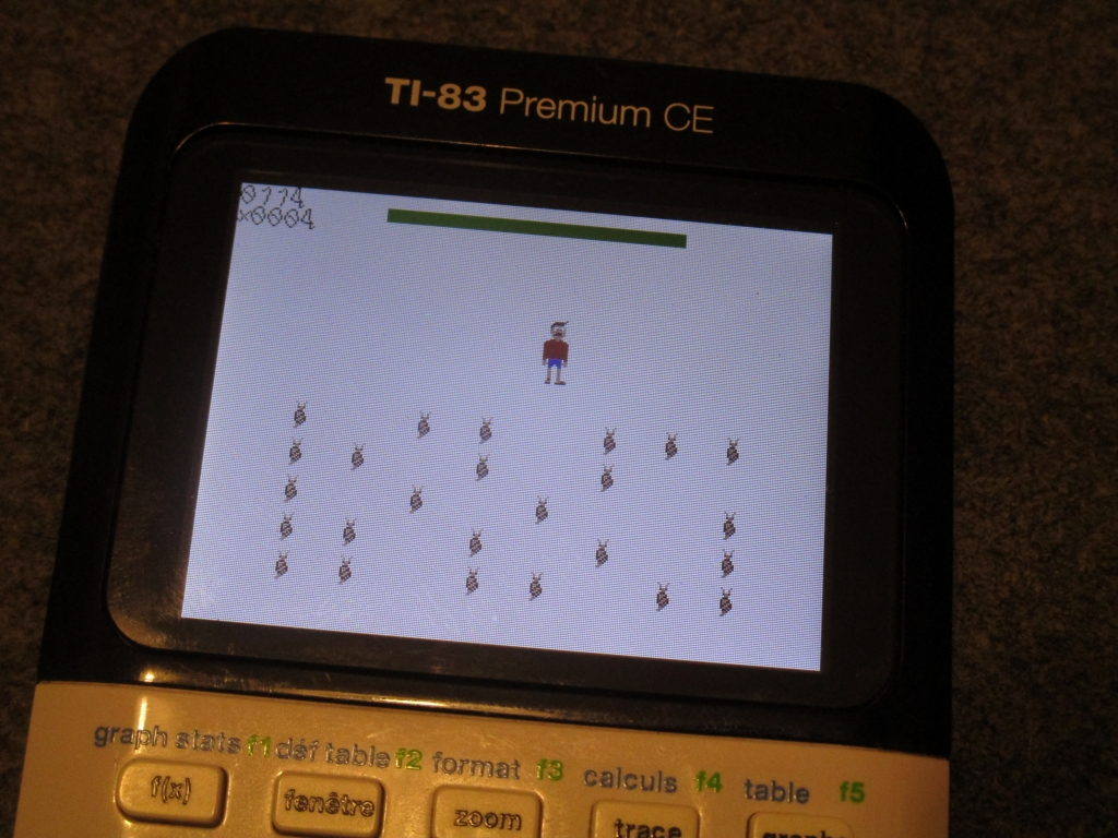 TI-83PCE + Attack of the Snails