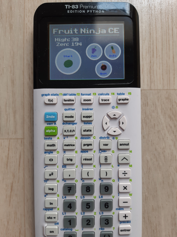Fruit Ninja CE + TI83PCE