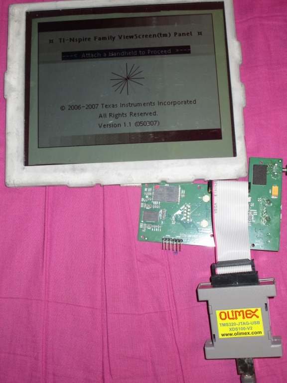 TI-Nspire ViewScreen + JTAG