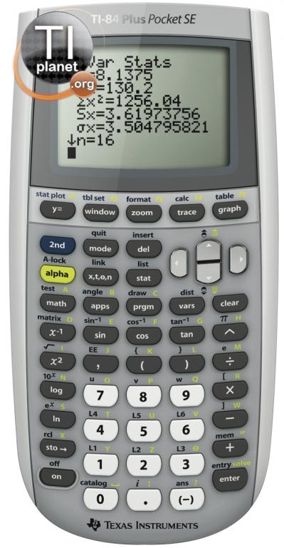TI-84+ Pocket SE