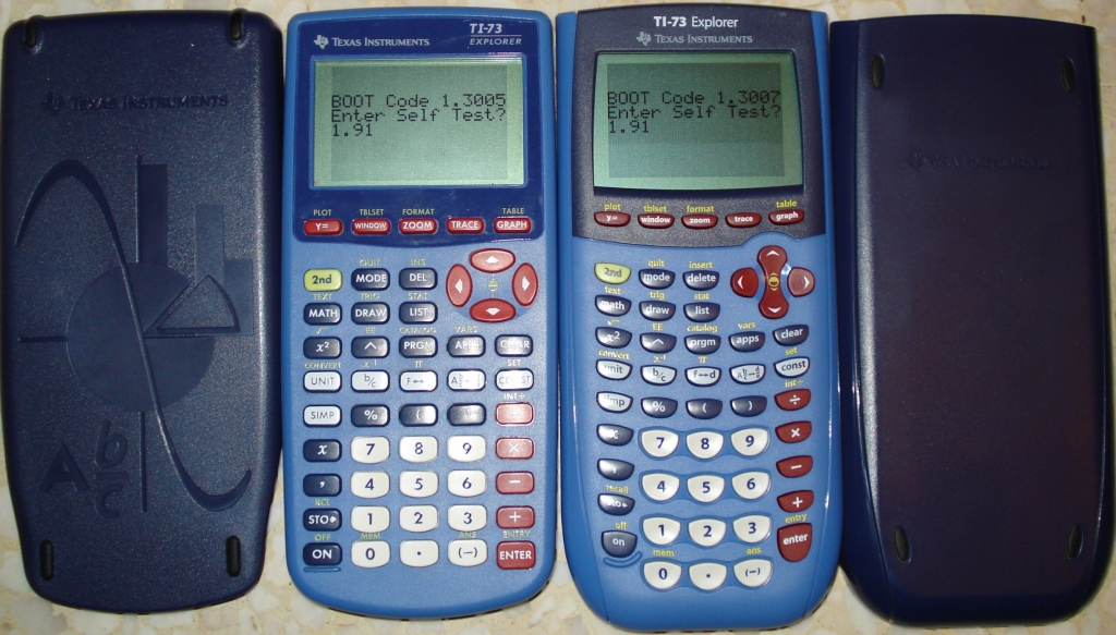 Comparaison TI-73 Explorer