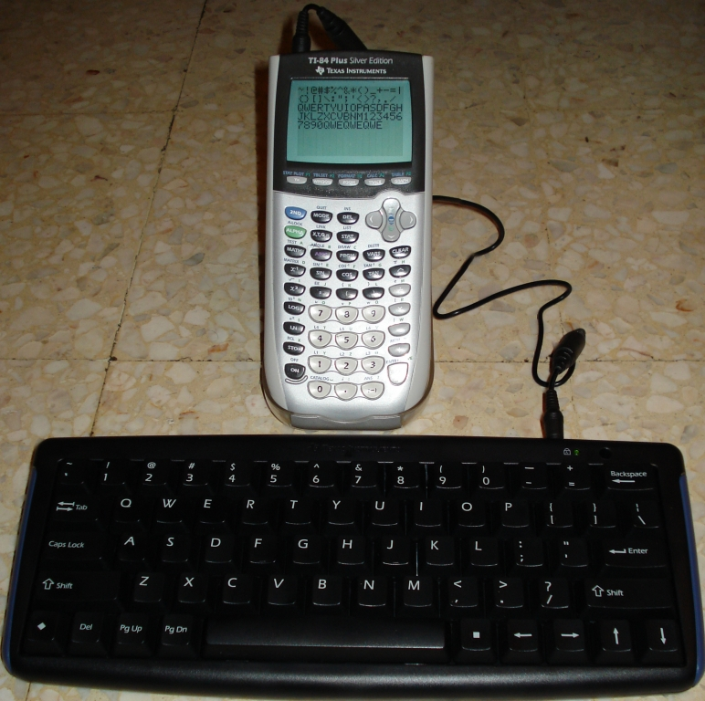 TI-Keyboard + TI-84 + support