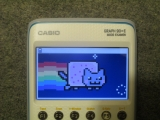 Casio Graph 90+E + Nyan Cat