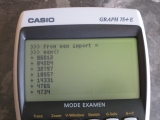 Casio Graph 75+E + CasioPython