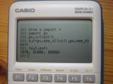 Graph 35+E II + CasioPython heap