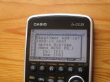 Casio fx-CG20 + OS 3.12