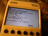Casio Graph 90+E + Eigenmath