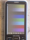 Casio fx-CP400+E + mire RGB 555