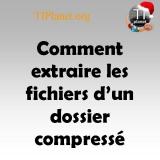 Icon - Comment extraire les fichiers d'un dossier compressé