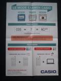 Poster Casio mode examen