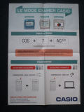 Poster Casio mode examen