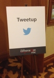 Tweetup reception sign