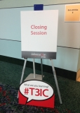Closing Session sign