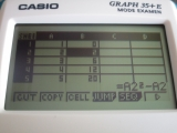 Casio Graph 35+E v2.10 (tableur)