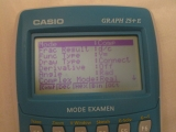 Casio Graph 25+E menu SETUP
