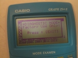 Casio Graph 25+E menu Diags