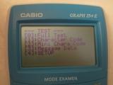 Casio Graph 25+E menu TEST MODE