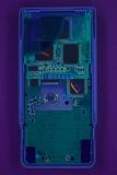 TI-81 'B' PCB Back UV