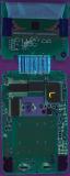 TI-81 0804828 PCB Rear UV