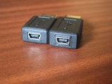 2x USB mini-B (F) <-> USB A (M)