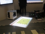 Vidéoprojecteur interactif sol