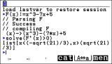 KhiCAS (giac/xcas) sur Graph90+E