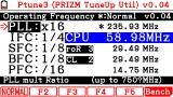 Ptune 3 menu on FX-CG20 OS3.10