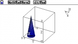 Graph3D Cone1 on FX-CG20 OS3.10