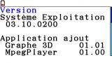Version Menu1 on FX-CG20 OS3.10